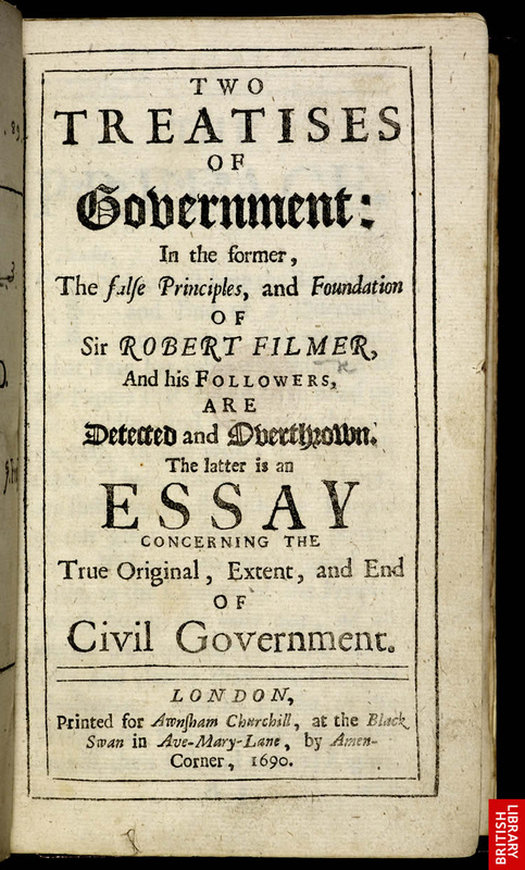 the governments and states of locke A summary of two treatises of government in 's john locke this text laid the foundation for modern forms of democracy and for the constitution of the united states.